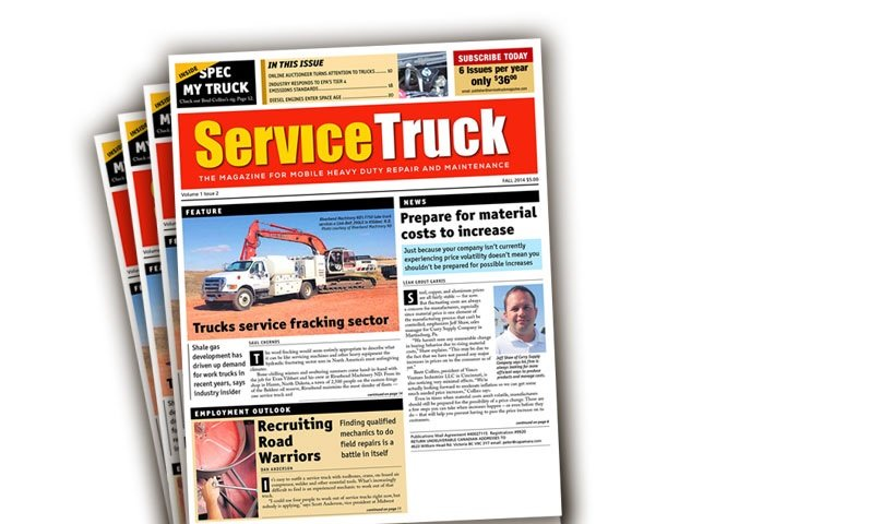 service truck magazine now available bimonthly. Black Bedroom Furniture Sets. Home Design Ideas