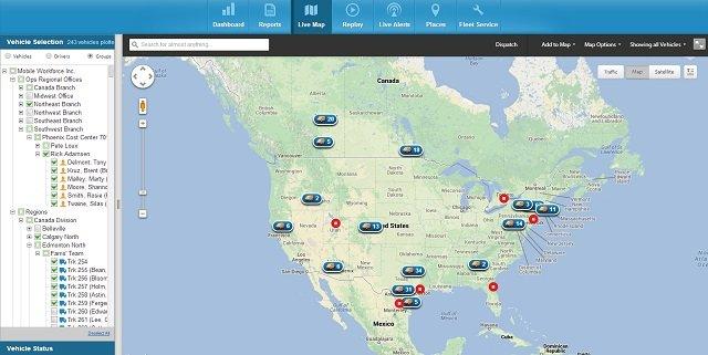 Fleetmatics Live Map