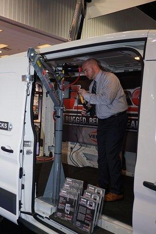 Ian Lahmer with Venco Van Crane Prototype