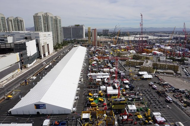 view of the Gold lot at ConExpo 2017.